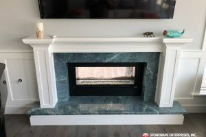 blue louise granite fireplace