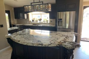 Alpine White 3CM Granite Island